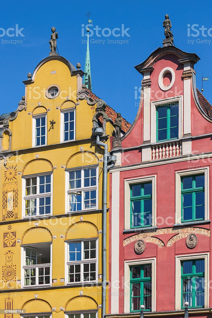 Gdansk townhouses stock photo