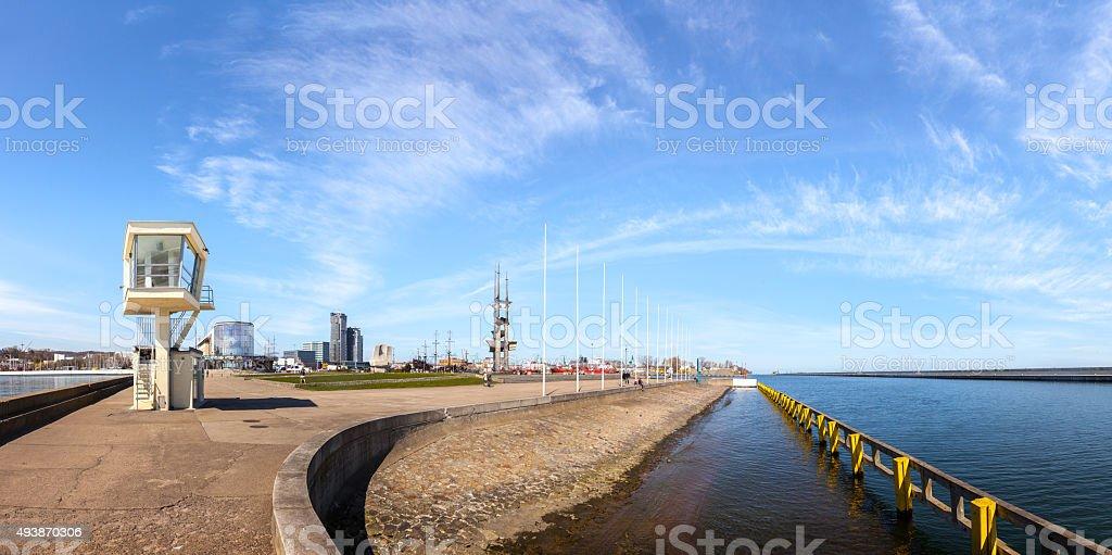 Gdynia panoramic view stock photo