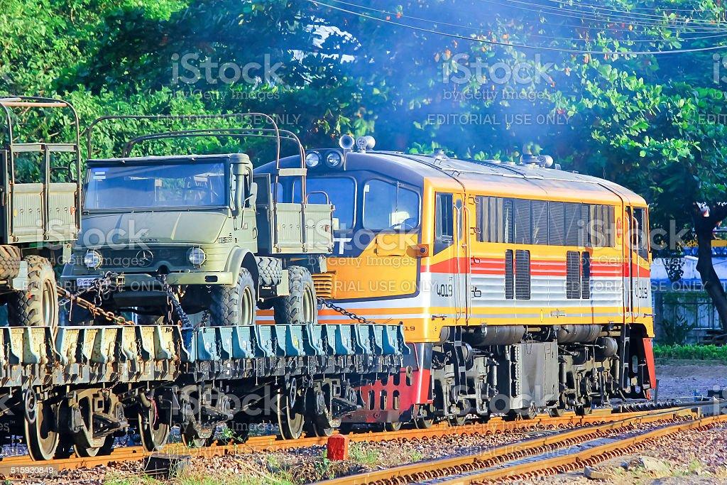 Ge Diesel locomotive stock photo
