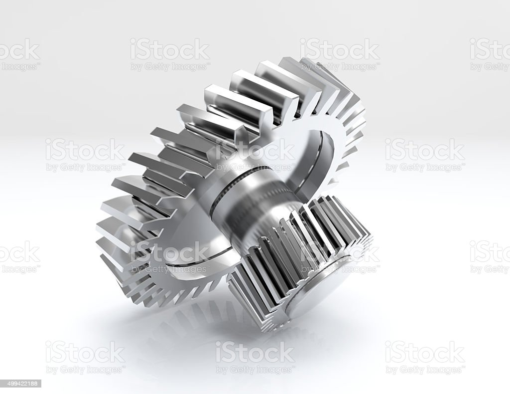 Gear 3d isolated white background stock photo