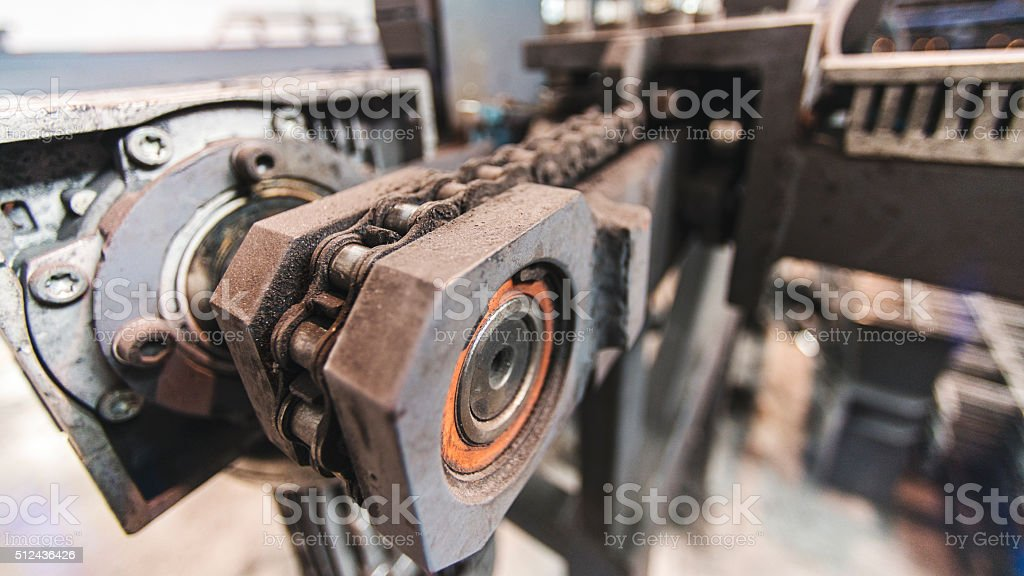 gear and chain stock photo