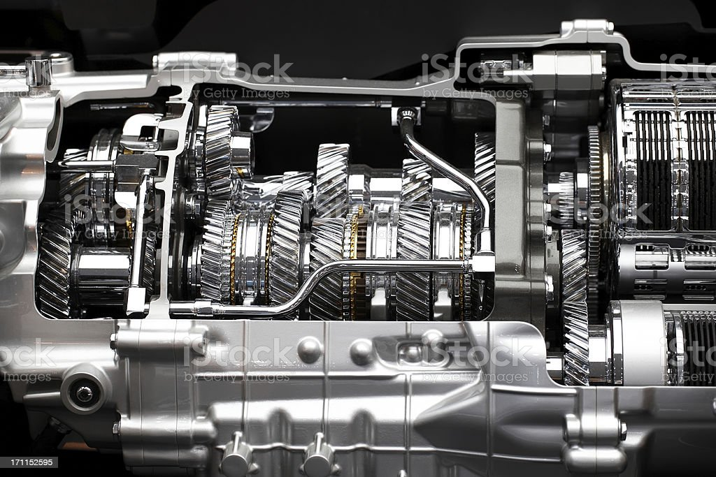 Gear Box Of Sports Car stock photo