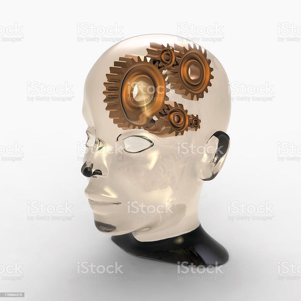 gear brain royalty-free stock photo