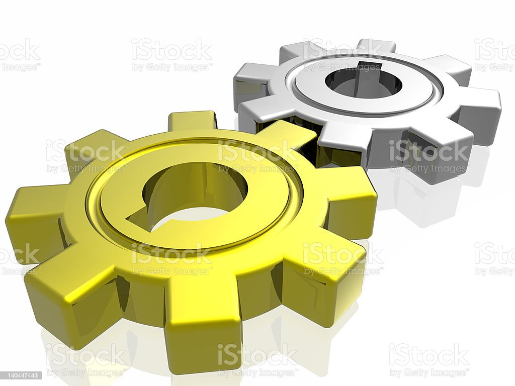 Gear business work royalty-free stock photo