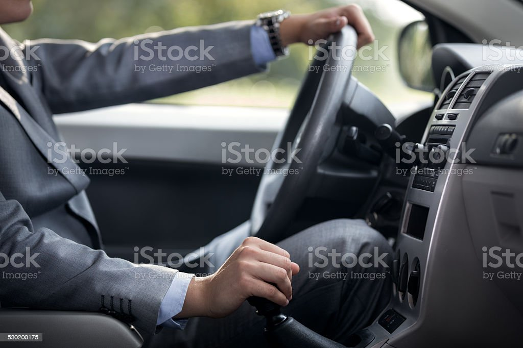 gear change lever stock photo
