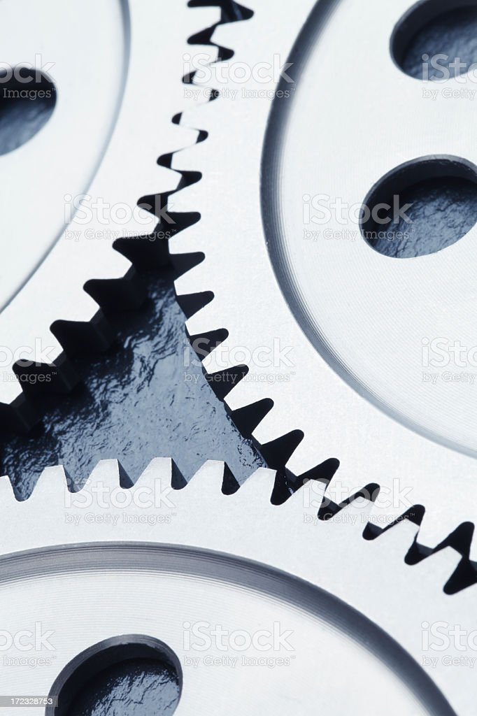 Gear close-up. royalty-free stock photo