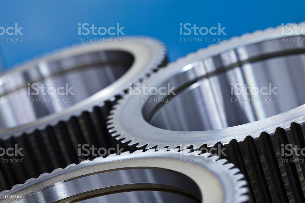 Gear close-up royalty-free stock photo