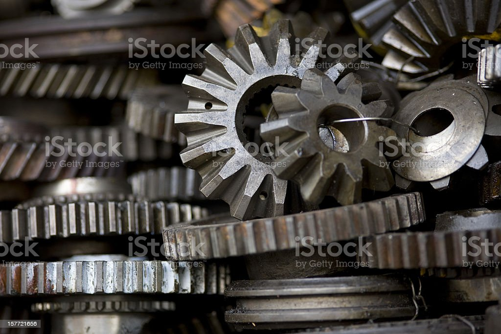 Gear cog background. stock photo