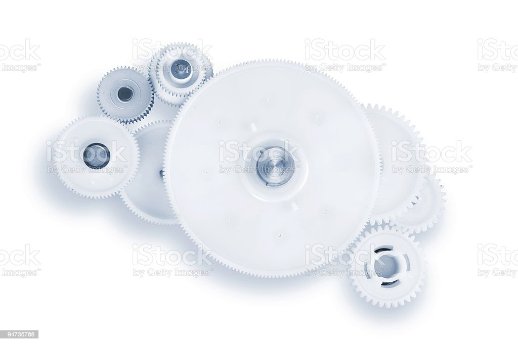 Gear drive isolated on white royalty-free stock photo