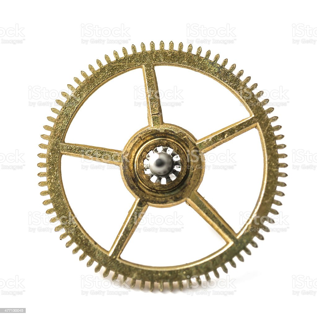 gear from an old pocket watch royalty-free stock photo