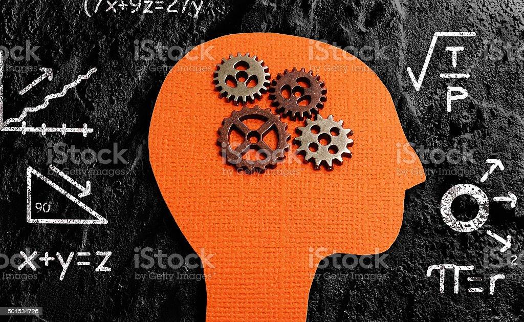 Gear head math stock photo