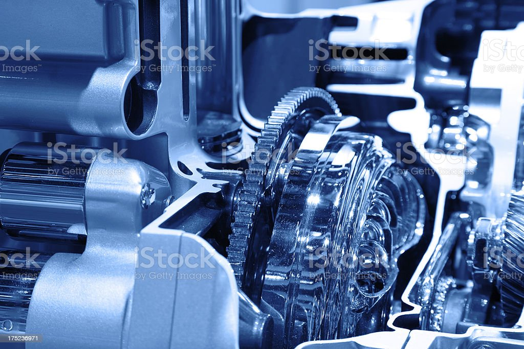Gear in engine royalty-free stock photo