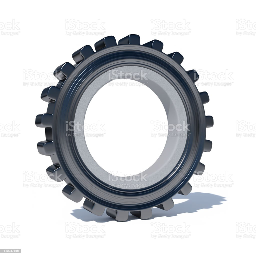 gear in front of a white background stock photo