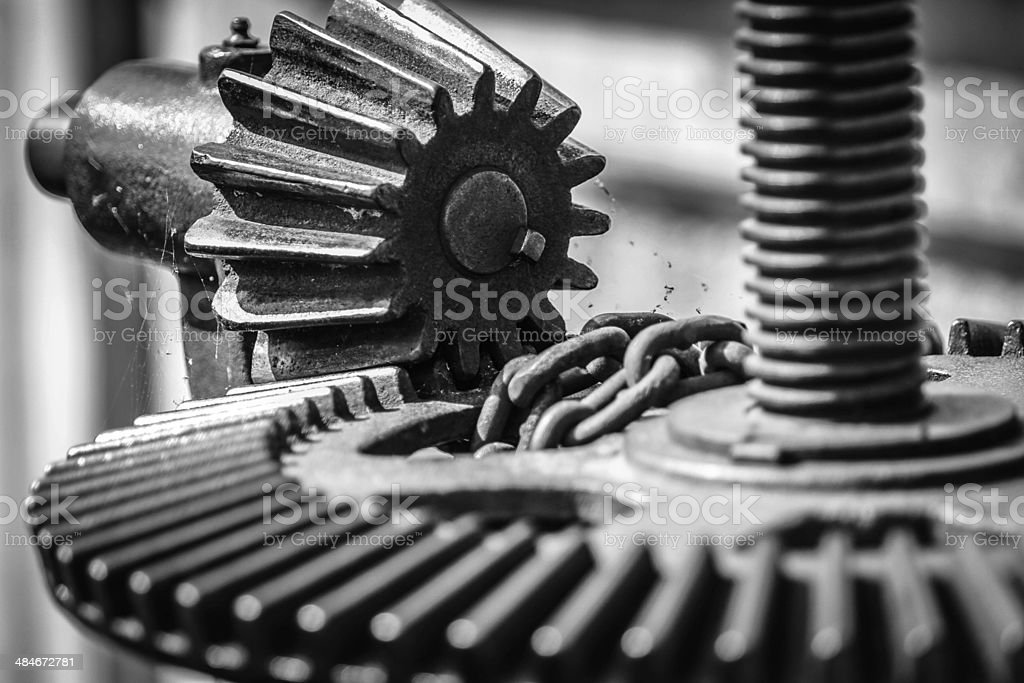 Gear in Time stock photo