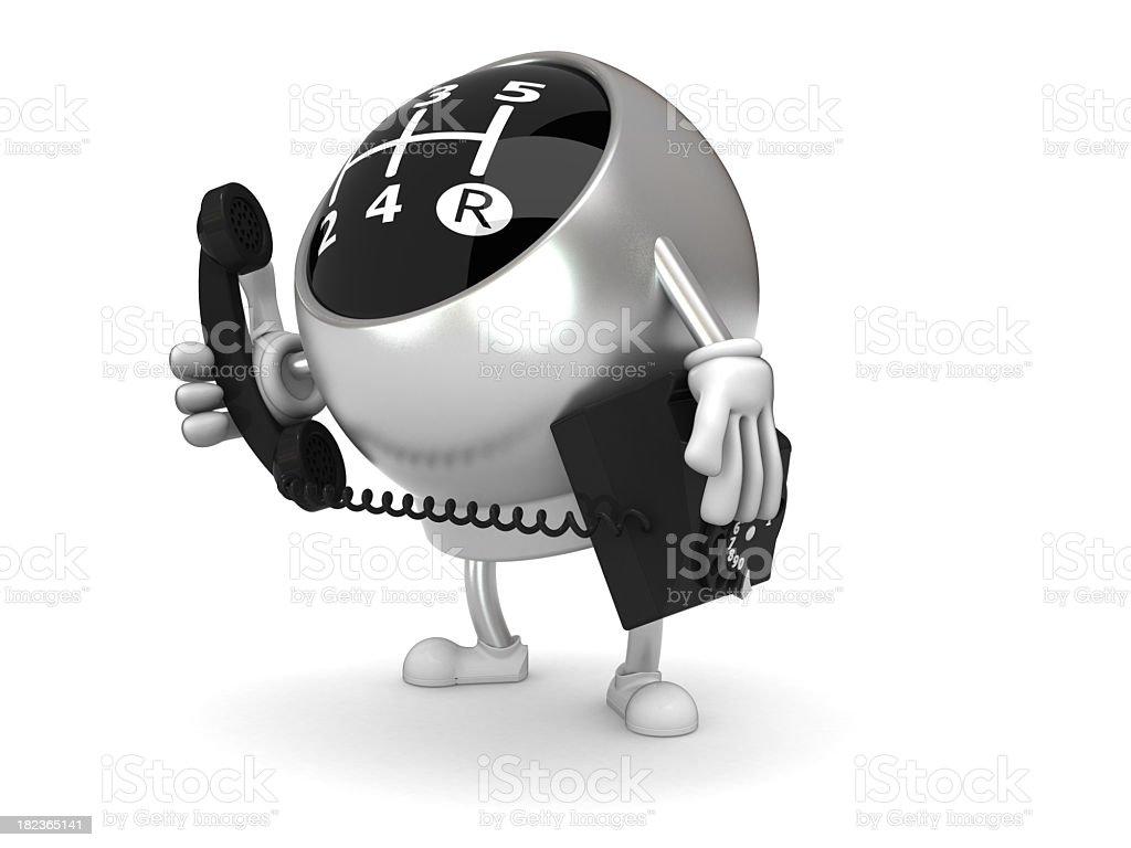 Gear knob stock photo