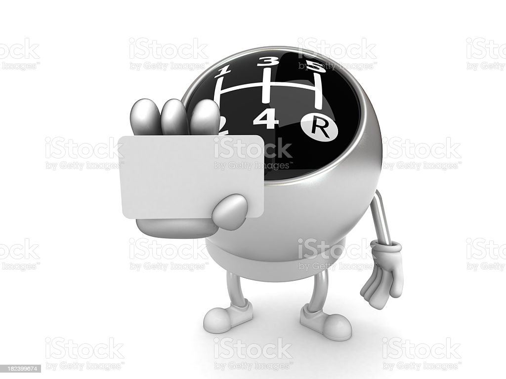 Gear knob royalty-free stock photo