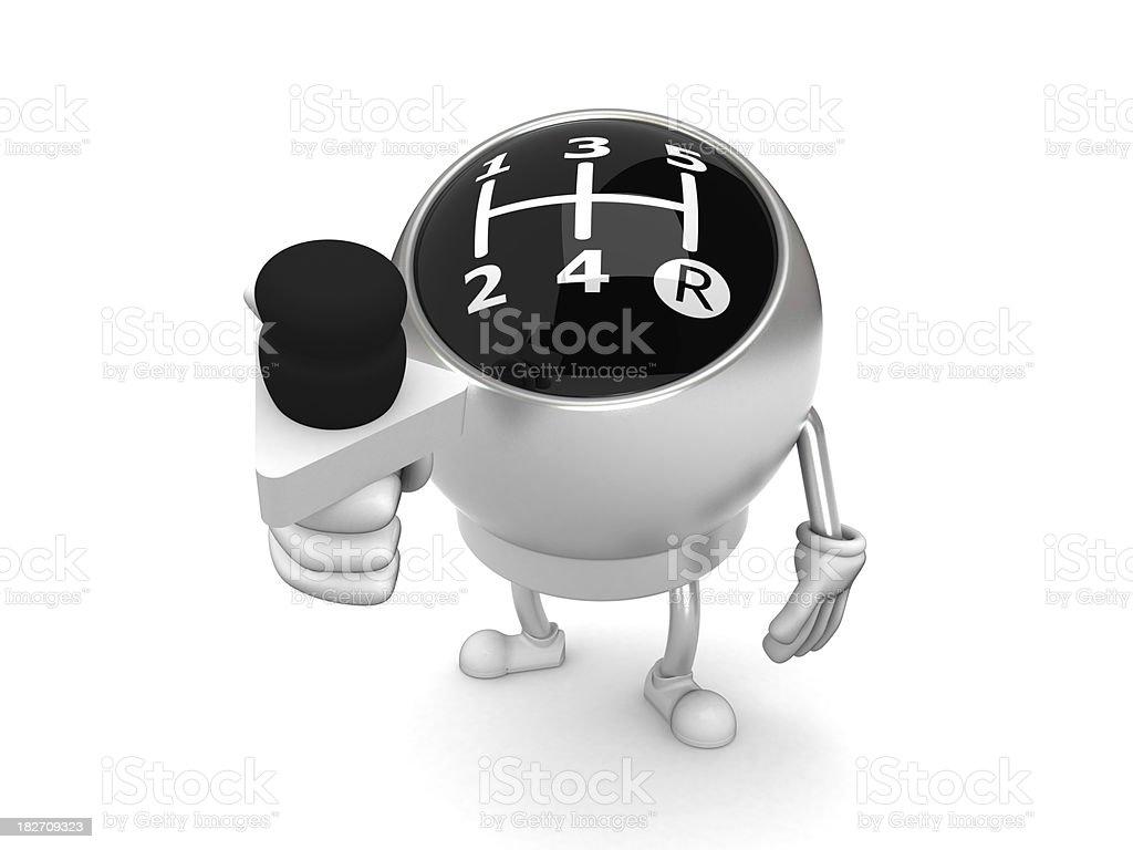 Gear knob royalty-free stock photo