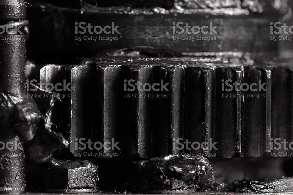 Gear macro industrial background stock photo
