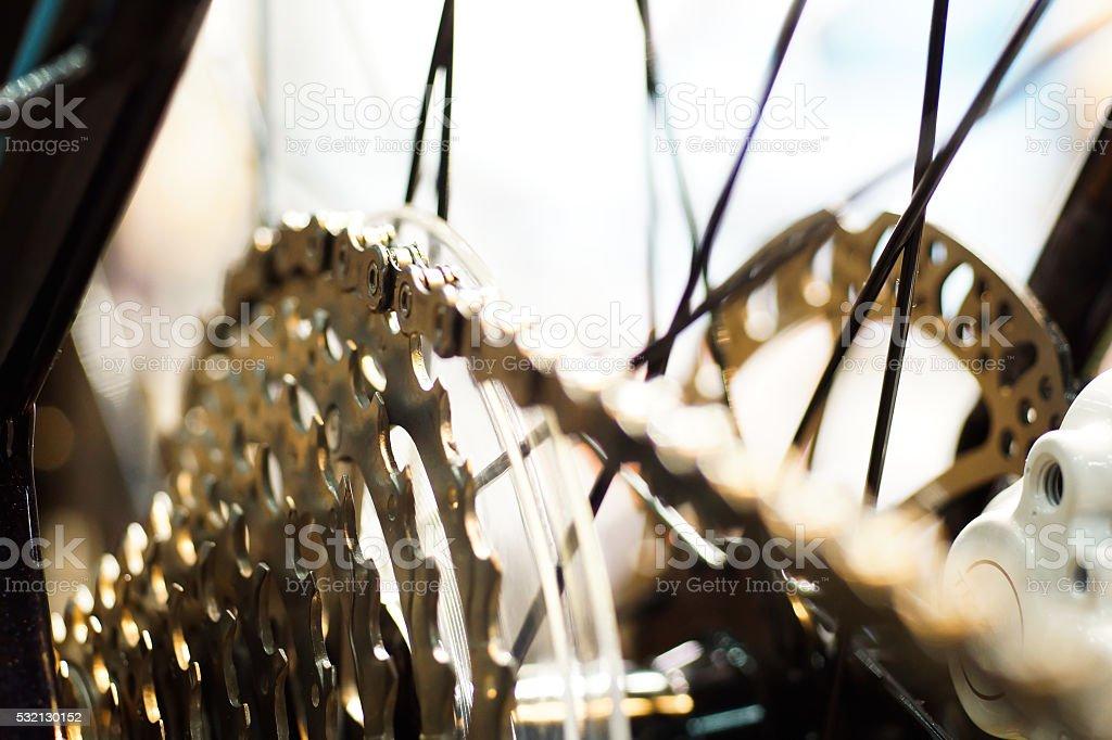 gear mechanics - bicycle stock photo