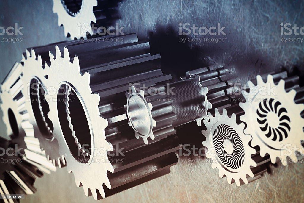 Gear mechanism stock photo