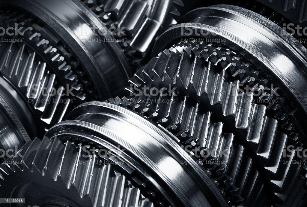 Gear metal wheels stock photo