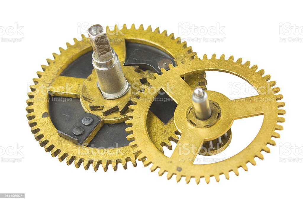 Gear of the clock royalty-free stock photo