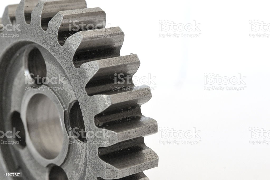 Gear on white royalty-free stock photo