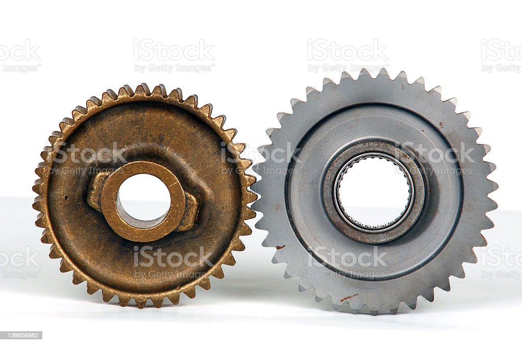 Gear parts royalty-free stock photo