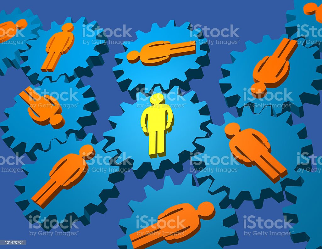 Gear People royalty-free stock photo