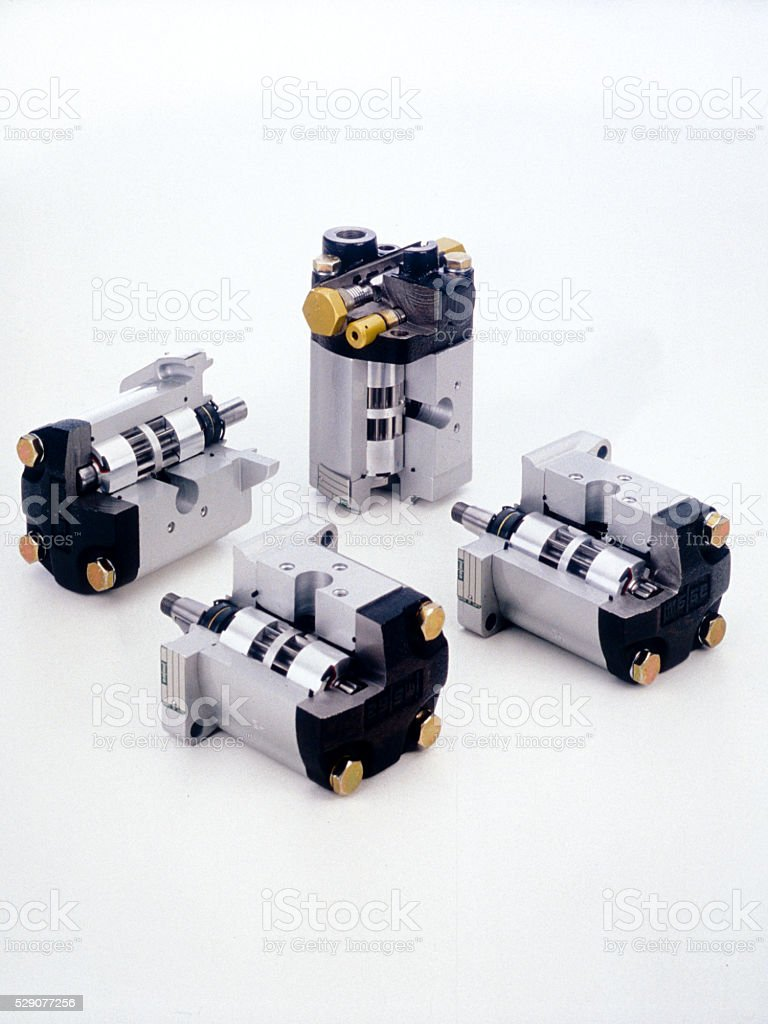 gear pump on a white background stock photo