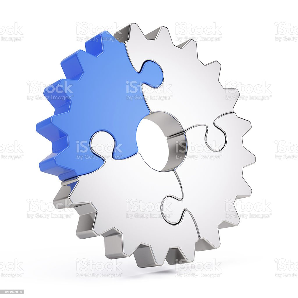 Gear puzzle stock photo