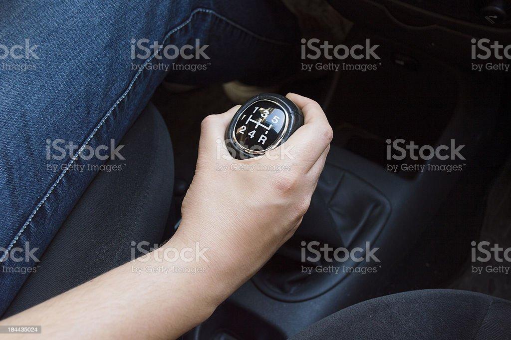 gear shift lever stock photo