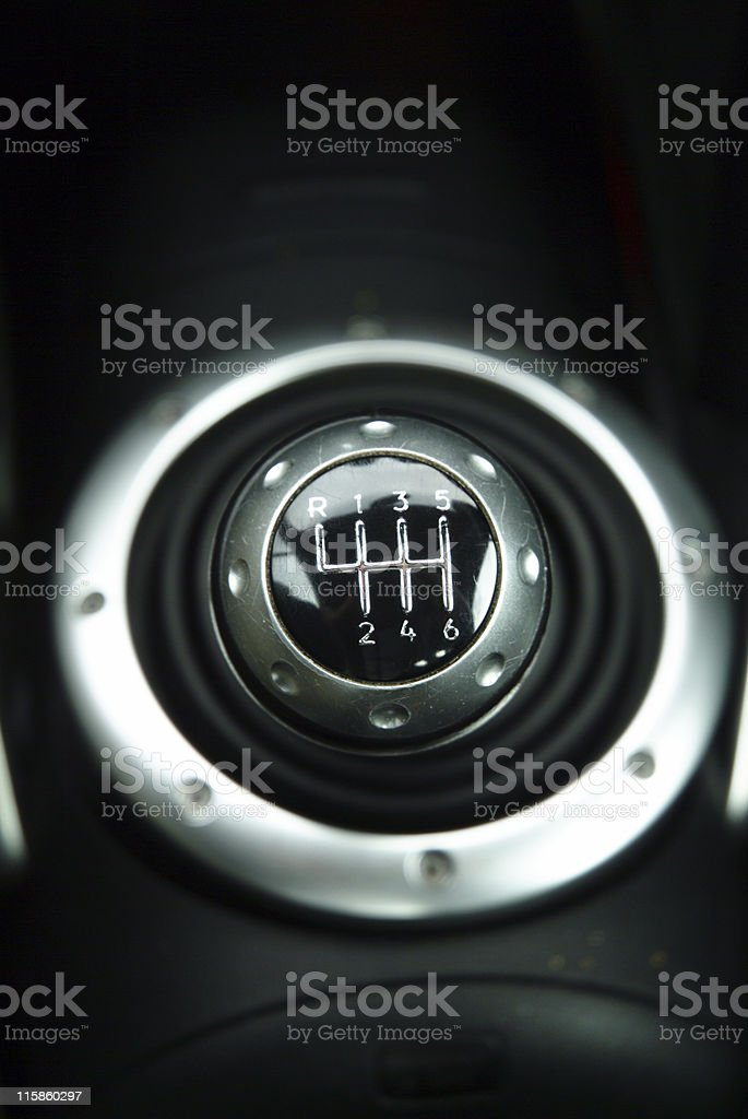 Gear shift royalty-free stock photo