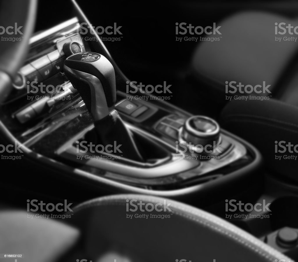 Gear shift stock photo
