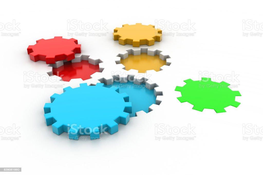 Gear, technology concept stock photo