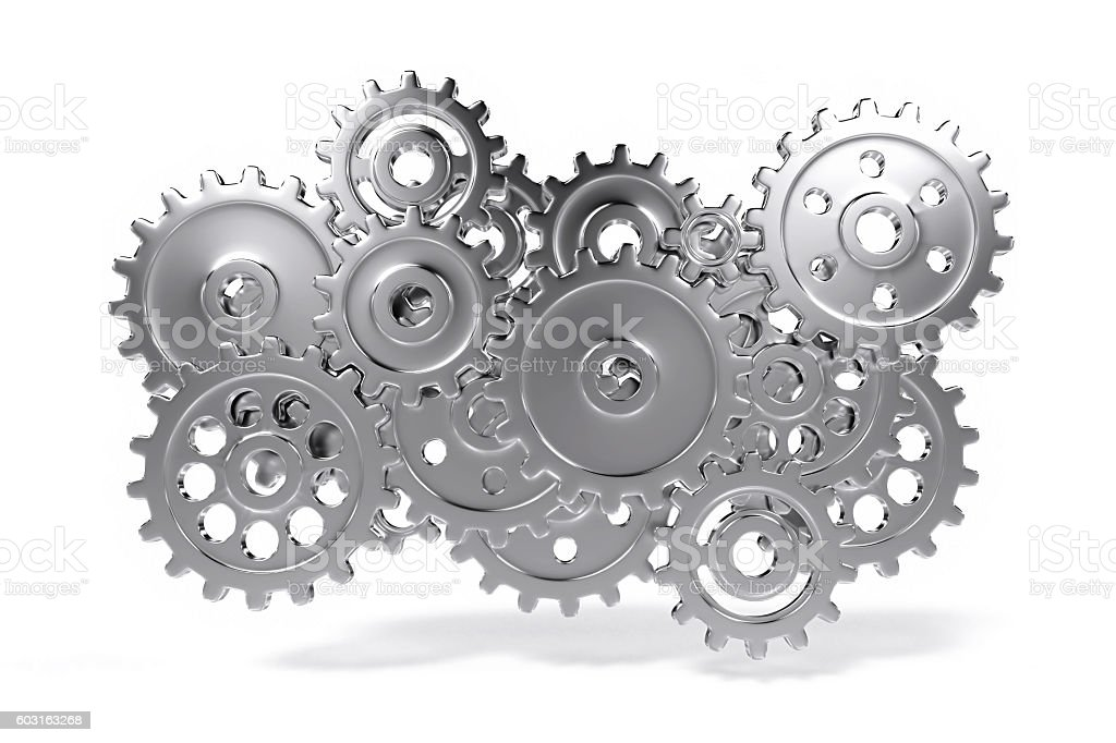 gear wheel system stock photo