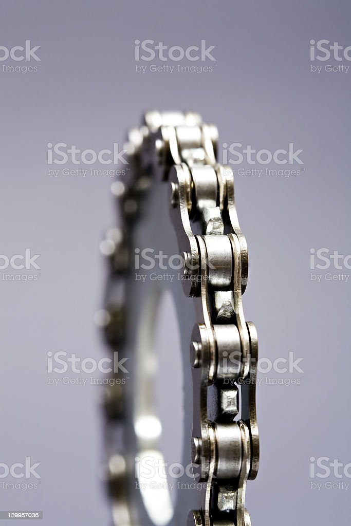 gear with chain royalty-free stock photo