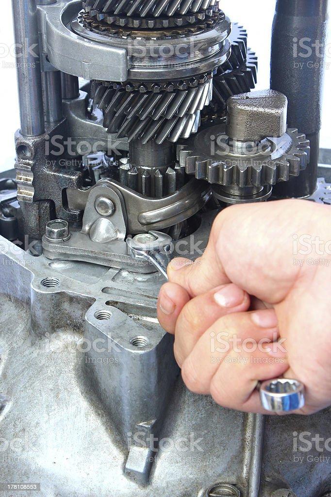 gearbox repair royalty-free stock photo