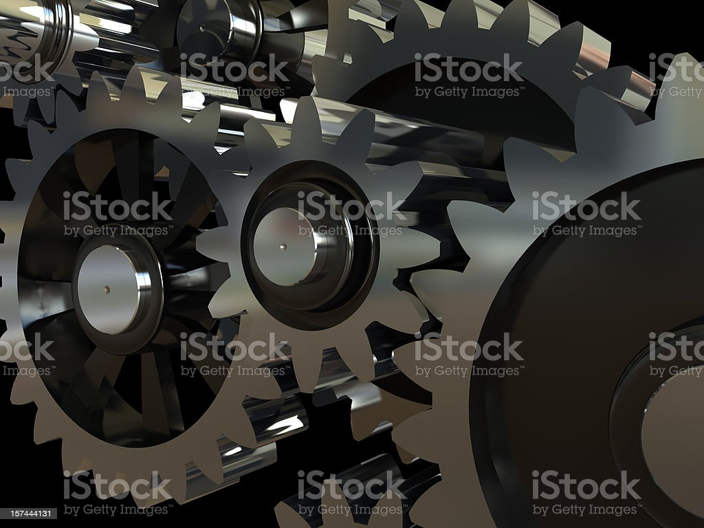 Gearing royalty-free stock photo