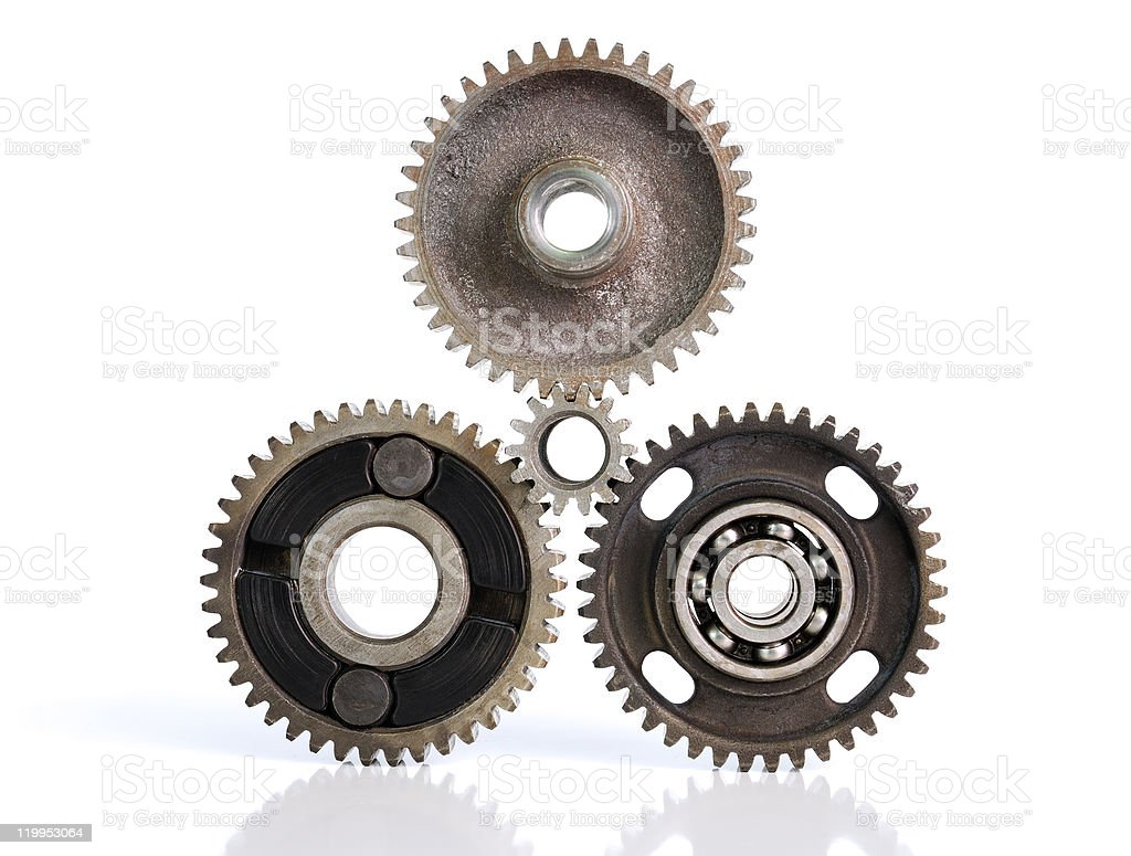 Gears and bearings stock photo