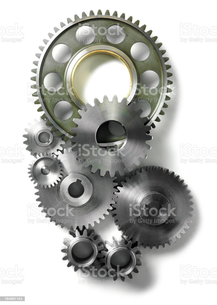 Gears and Cogs Isolated royalty-free stock photo