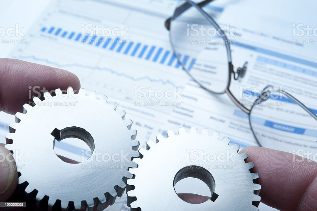 Gears and Graphs royalty-free stock photo