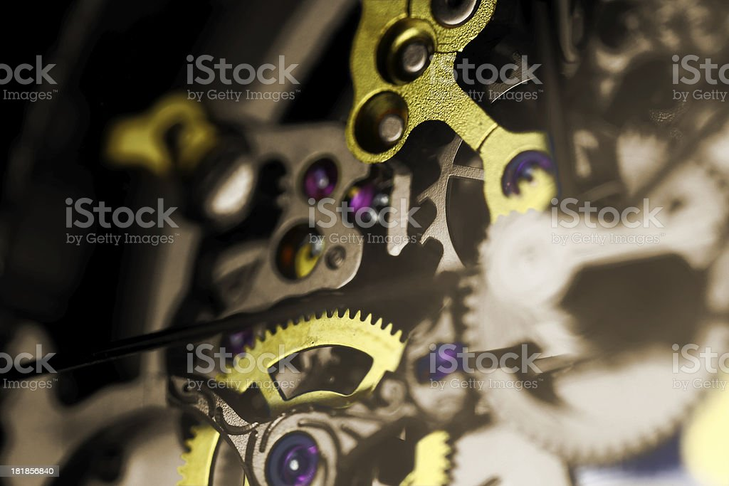 Gears background royalty-free stock photo