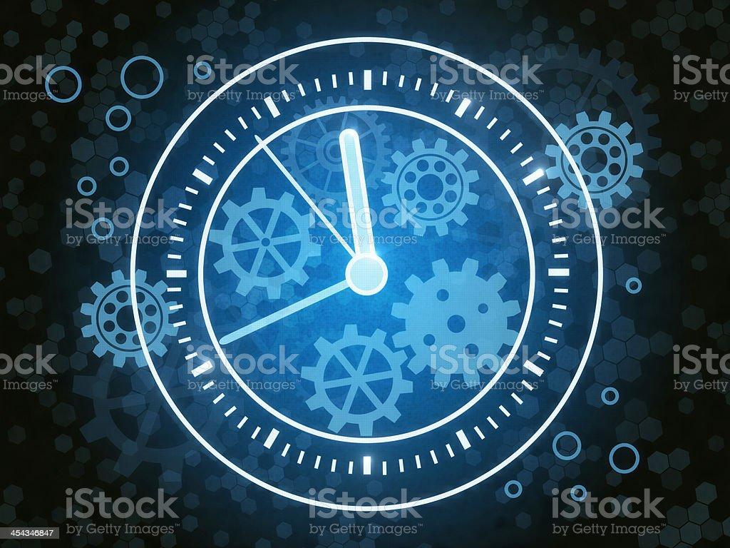 Gears Clock stock photo