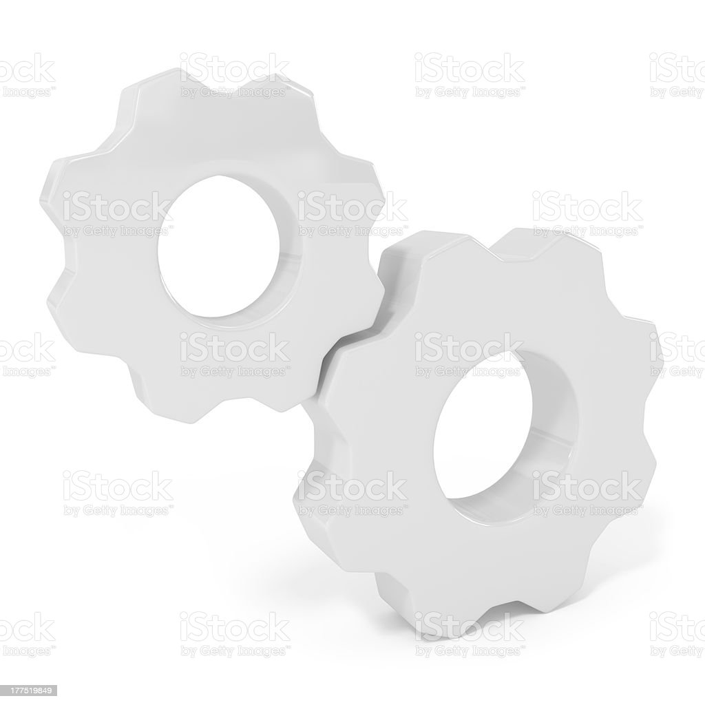 Gears - Element for Buisiness Website Design royalty-free stock photo