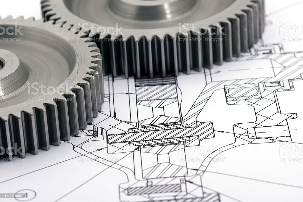 Gears Engineering 1 of 9 royalty-free stock photo