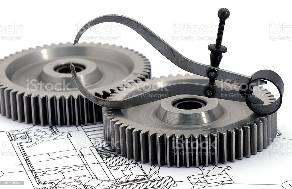 Gears Engineering 2 of 9 royalty-free stock photo