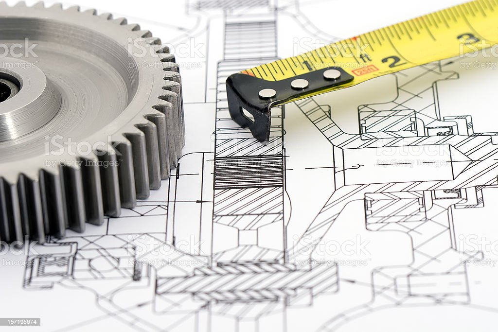 Gears Engineering 3 of 9 royalty-free stock photo