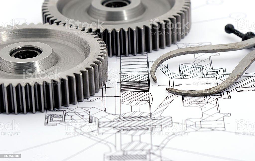 Gears Engineering 9 of Nine stock photo