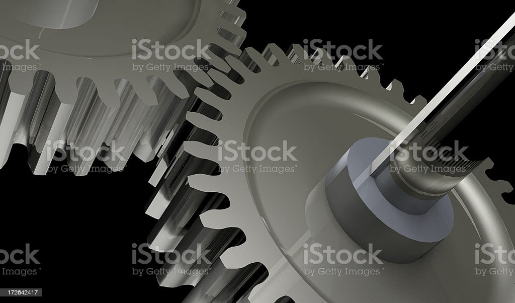gears in action. stock photo